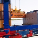 Containerlift in the Pampus Terminal