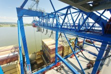 Containercrane in the Pampus Terminal