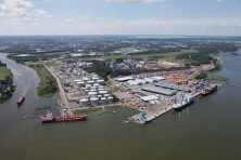 Aerial photo, the Pampus terminal, Port of Norrköping